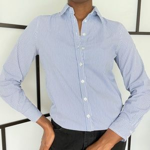 Jacob fitted button up striped shirt